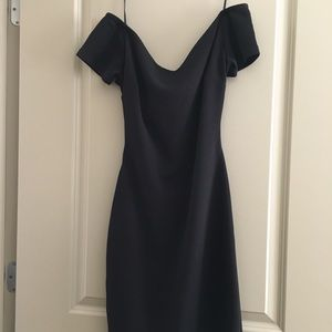 GIANNI BINI black small midi dress